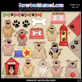 Doggie Daze ClipArt Graphic Collection