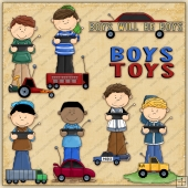 Boys Remote Toys ClipArt Graphic Collection