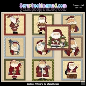 Christmas Santa Blocks Graphic Collection