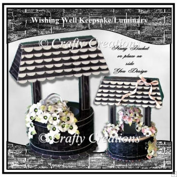 Wishing Well Keepsake/Luminary - Black