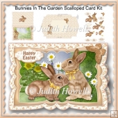 Bunnies In The Garden Scalloped Card Kit