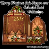 Merry Christmas Side Stepper 2017 Calendar Card & Envelope