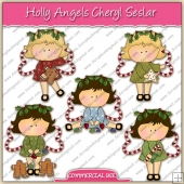 Holly Angels ClipArt Graphic Collection - REF - CS