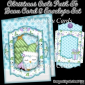 Christmas Owls Push To Beau Card & Envelope