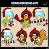 Christmas Birds ClipArt Collection