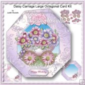 Daisy Carriage Large Octagonal Card Kit