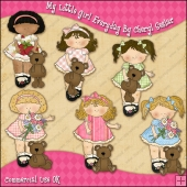 My Little Girls Everyday ClipArt Graphic Collection