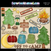 Camping Essentials ClipArt Collection