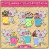 RESALE ART WORK - Mice Flower Cups Bears Collection