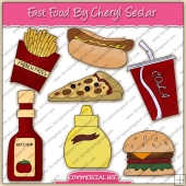 Fast Food ClipArt Graphic Collection - REF - CS