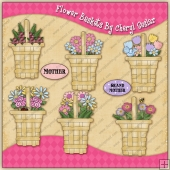 Flower Baskets Graphic Collection - REF - CS