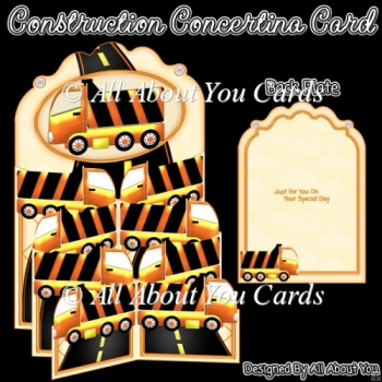 Construction Concertina Card