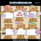 Bulletin Bears Big Sale ClipArt Collection