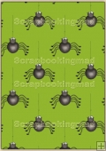 Backing Papers Single - Green spiders - REF_BP_106