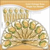 Gold Vintage Rose Single Fan Blades