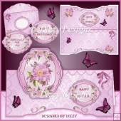 Floral Spray Card Kit