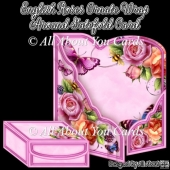 English Roses Ornate Wrap Around Gatefold Card
