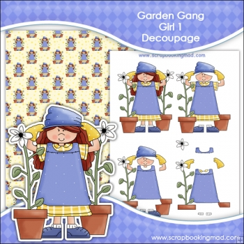 Garden Gang Girl 1 Decoupage Download