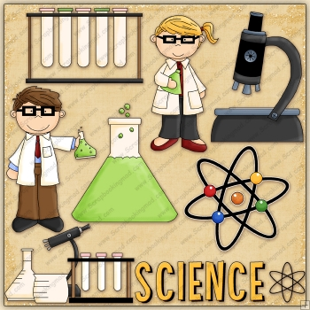 Lil Scientists ClipArt Graphic Collection