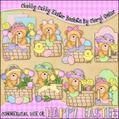 Chubby Cubby Easter Baskets ClipArt Graphic Collection