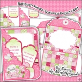Butterfly Kisses Scalloped Pocket Card