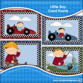 4 Little Boy Card Fronts