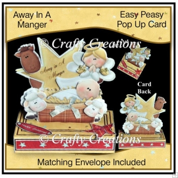 Easy Peasy Pop Up Card - Away In A Manger