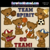 Tibbles Has Team Spirit ClipArt Collection