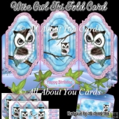 Wise Owl Tri Fold Card