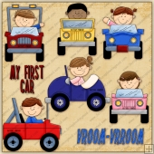 My First Car ClipArt Graphic Collection