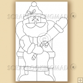 Christmas Sitting Santa - Digital Stamps