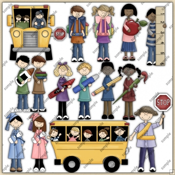 School Fun ClipArt Graphic Collection