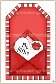 Red Valentine Tag - REF_T313