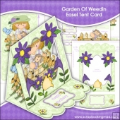 Garden Of Weedin Easel Tent Card
