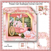 Flower Cart Scalloped Corner Card Kit