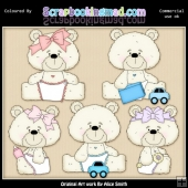 Beasley Baby Bear 3 Clipart Graphics Download