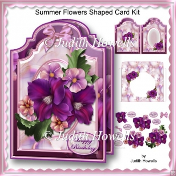 Summer Flowers Shaped Card Kit