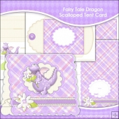 Fairy Tale Dragon Scalloped Tent Card