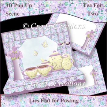 3D Pop-Up Scene - Tea for Two