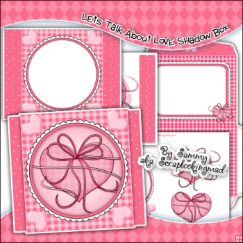 Let's Talk About Love Shadow Box Card & Envelope