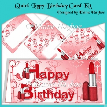 Quick Lippy Birthday Card Kit