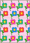 A4 Backing Papers Single - Pink Flowers - REF_BP_172
