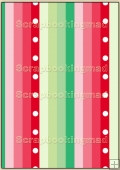 Backing Papers Single - Red & Green Stripes - REF_BP_21