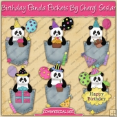 Birthday Panda Pockets Graphic Collection - REF - CS