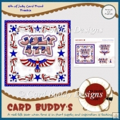4th of July Card Front Freebie