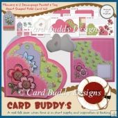 Flowers 4 U Decoupage Pocket & Tag Heart Shaped Fold Card Kit