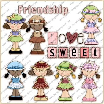 Sweetie Pie Girls ClipArt Graphic Collection