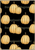 Backing Papers Single - Black & Orange pumpkins - REF_BP_109