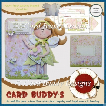 Fairy Best Wishes Shaped Card Kit