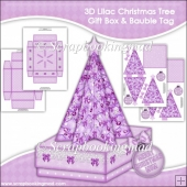 3D Lilac Christmas Tree Gift Box